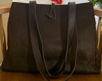05f7fb9f811 Canvas chocolate Bloomingdales Italy tote