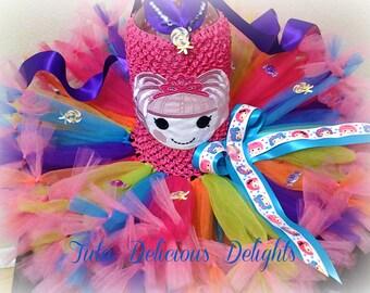 Lalaloopsy Inspired Petti Tutu Dress, Lalaloopsy birthday dress, Jewels Sparkles tutu, Mittens tutu dress, Kids birthday tutus