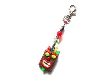 Crash Bandicoot Aku-Aku Mask Inspired Keychain, Crash Tiki Mask, Ooga Booga, PS4 Keychain, Video Games, Cute Keychain, Video Game Keychain
