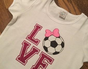 884820e3d5b875 Love Soccer Girls Shirt! Soccer shirt