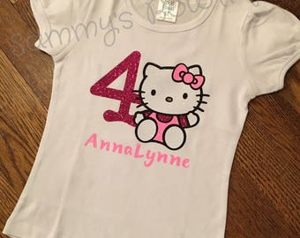 Hello Kitty Birthday Shirt Custom Personalized