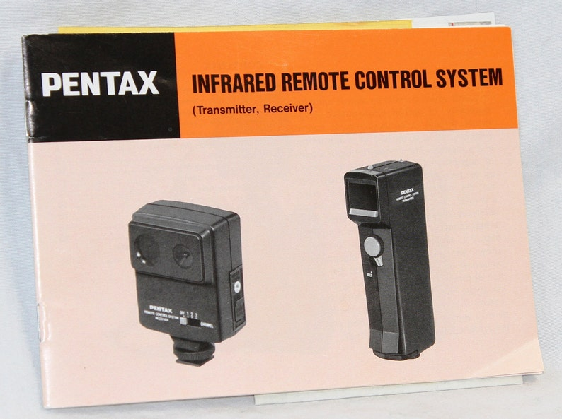Pentax Infrared Remote Control System - Transmitter and Receiver - Vintage  Camera Equipment - 1980s