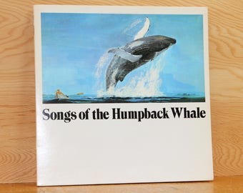 Songs of the Humpback Whale - w/Whale Book - CRM Records SWR-11 - Vintage 33 1/3 LP Record - 1970