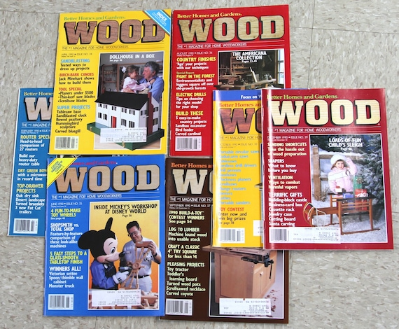 1990 Wood Magazine Issue No. 33 39 Better Homes And | Etsy