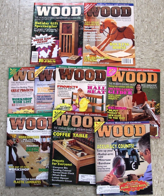 1995 Wood Magazine   Issue No. 76 84   Better Homes And Gardens   Lot Of 9    Vintage Woodworking From DaisydoVintage On Etsy Studio