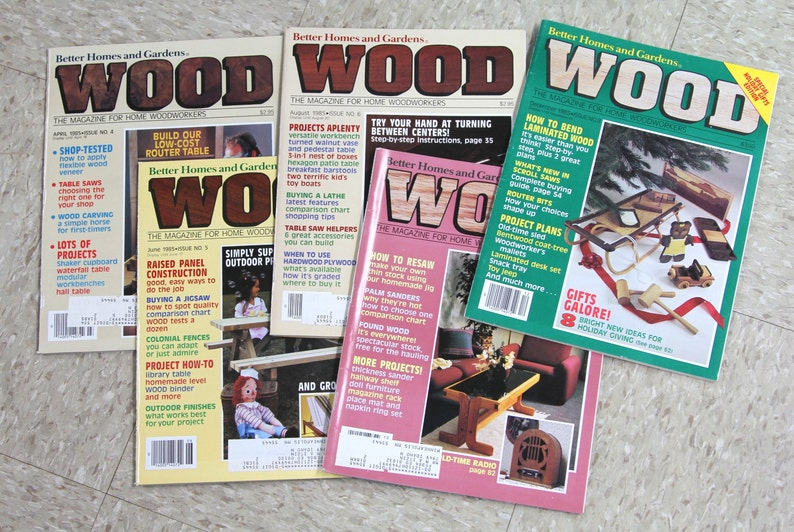 1985 Wood Magazine Issue No 4 8 Better Homes And Gardens Etsy