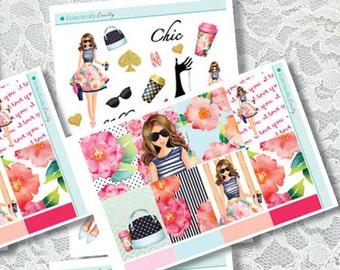 Glamor Girl 2 Mini Kit | Sticker Kit | Planner Stickers | Stickers for Erin Condren Life Planner | Glam Stickers