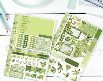 Greenery Sticker kit for The MINI HAPPY PLANNER | March Stickers | Spring Stickers | Happy Planner Mini Stickers HP003
