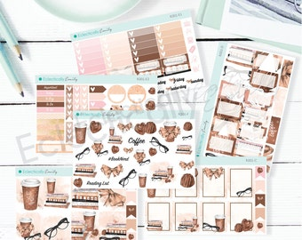 Reading Beauty Sticker Kit | Planner Stickers | Stickers for Erin Condren Life Planner | Glam Stickers | K001-Kit