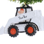 Skid Steer Christmas ornament - white skid steer ornament - personalized skid steer Christmas ornament