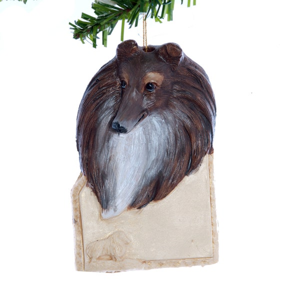 image 0 - Sheltie Personalized Christmas Ornament Brown And Tan Etsy