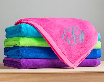 Embroidered Personalized Monogrammed Beach Towel: Personalized Towel, Embroidered Large Beach Towel, Custom Monogrammed Towel, SHIPS FAST