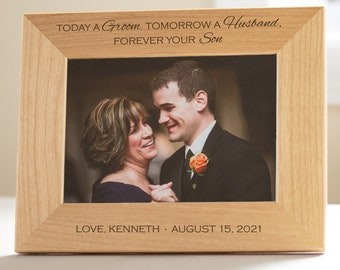Personalized Mother of the Groom Picture Frame: Engraved Mother of the Groom Frame, Personalized Mother of the Groom Gift, SHIPS FAST
