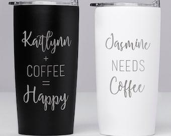 Custom Engraved Stainless Steel Coffee Mug: Personalized Coffee Mug, Engraved Coffee Tumbler, Personalized Coffee Tumbler, Custom Tumbler