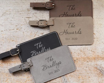 Pair (2)  Personalized Wedding Luggage Tags by Lifetime Creations: Bride and Groom Luggage Tags, Newlywed Luggage Tags Bag Tags