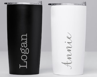 Engraved Personalized Stainless Steel Tumbler by Lifetime Creations: Insulated Custom Coffee Tumbler Double Wall 20 oz Travel Mug