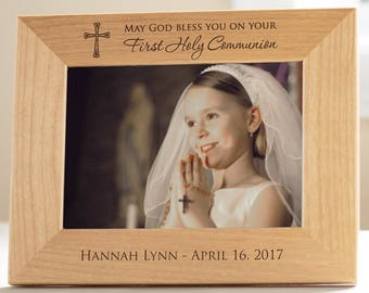 Personalized First Communion Picture Frame: First Communion Gift, Personalized First Communion Gift, First Communion Frame SHIPS FAST