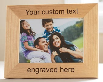 "Create Your Own Personalized Frame: Custom Engraved Wood Picture Frame, Design Your Own Picture Frame, 5"" x 7"" or 8"" x 10"" Frame, SHIPS FAST"