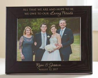 Wedding Frame For Parents Etsy