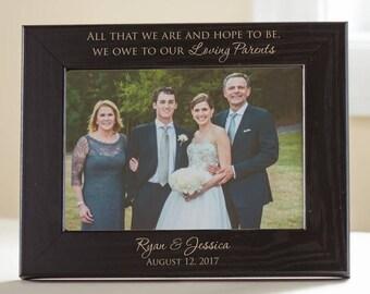 Wedding frame parent | Etsy
