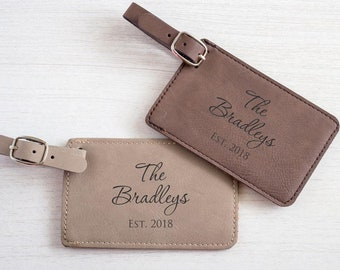 Pair (2) Personalized Wedding Luggage Tags: Custom Bride Groom Luggage Tags, Bride Groom Honeymoon, Personalized Wedding Gift,  SHIPS FAST
