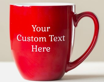 Personalized Engraved Create Your Own Coffee Mug: Large Personalized Coffee Mug, Custom Oversized Coffee Mug, Personalized Mug, SHIPS FAST