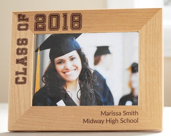 Personalized Graduation Picture Frame: Personalized Graduation Gift, Graduation Photo, Graduation Present, Gift for grad, QUICK TURNAROUND