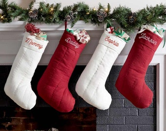 large personalized christmas stockings etsy - Large Christmas Stockings