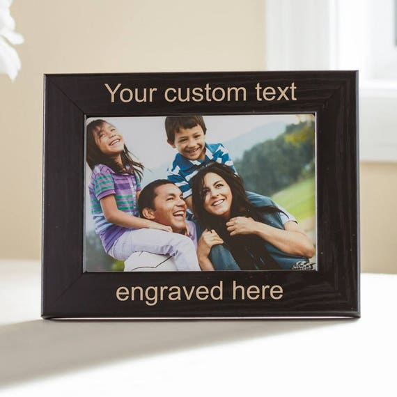 Create Your Own Personalized Picture Frame Black Design Etsy