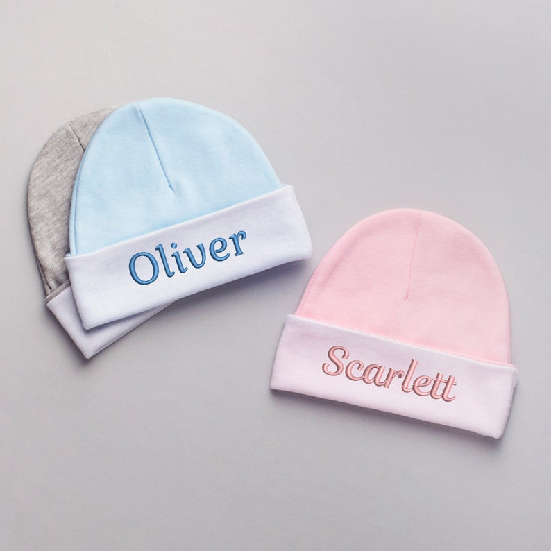 Embroidered Personalized Baby Hat  Personalized Baby Hat  1daeb62fa9a