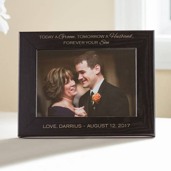Personalized Mother Of The Groom Picture Frame Black Etsy