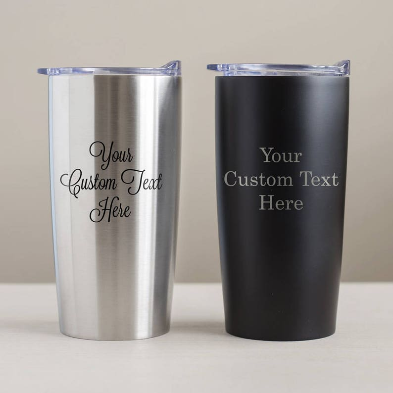 d424f5b9e28 Create Your Own Engraved Stainless Steel Tumbler: Custom Engraved Tumbler,  Personalized Tumbler, Personalized Travel Mug, SEE DETAILS