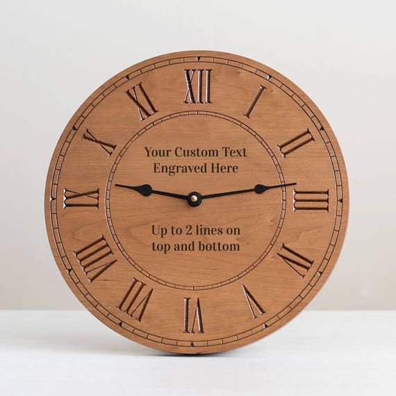 Make Your Own Clock: Create Your Own Engraved Wood Clock: Custom Engraved Wood