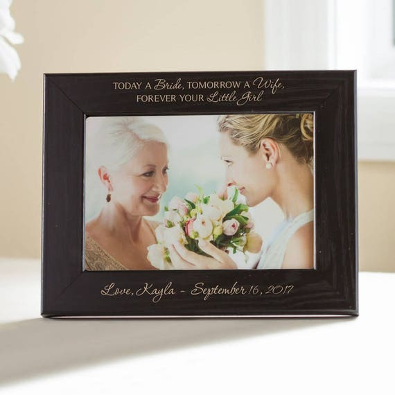 Personalized Mother Of The Bride Picture Frame Black Etsy