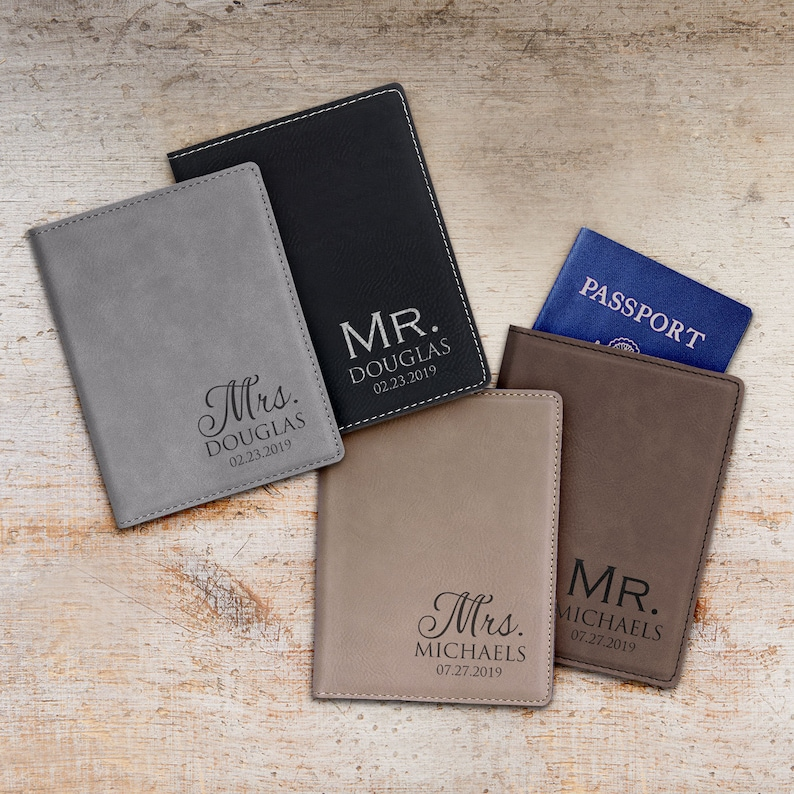 94495ec7a Personalized Mr. and Mrs. Passport Cover Set by Lifetime