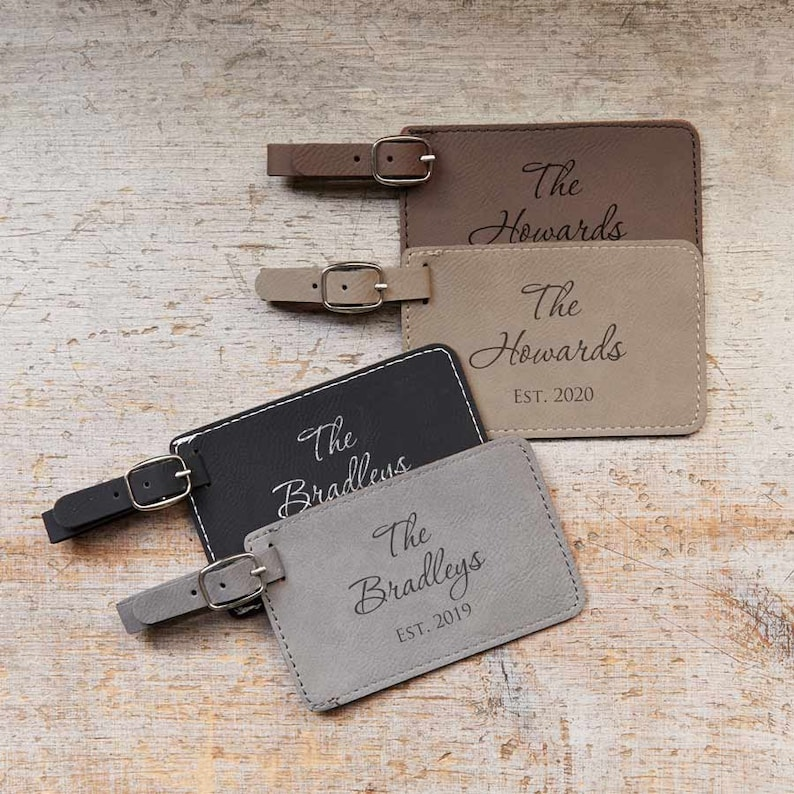 Personalized Wedding Luggage Tags Pair 2 by Lifetime image 0