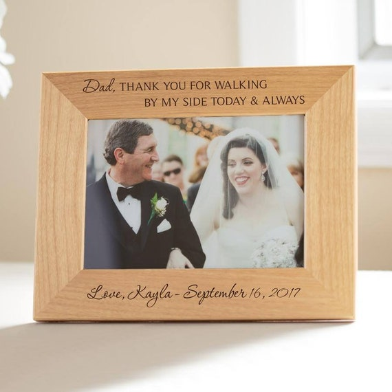 Personalized Father Of The Bride Picture Frame Engraved Etsy