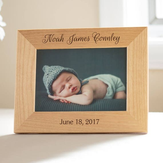 Personalized New Baby Picture Frame Personalized Baby Gift Etsy