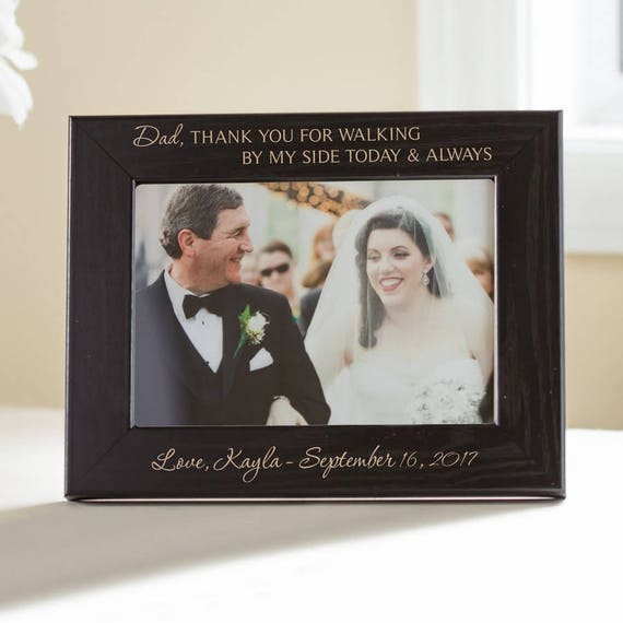 Personalized Father Of The Bride Picture Frame Black Etsy