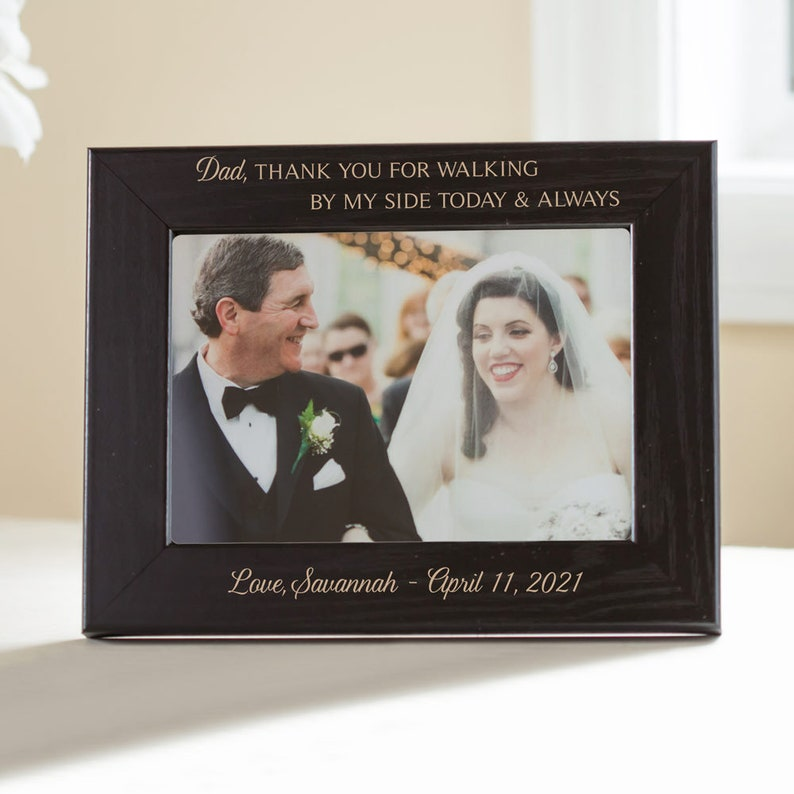 All That We Are, Wedding Gift for Parents Personalized Photo Frame Parents of Bride /& Groom Picture Frame Engraved Parent Gift 8x10