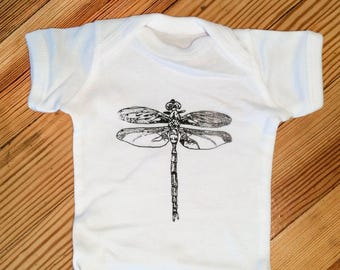 """Screen printed Youth T-shirt """"Dragonfly"""""""