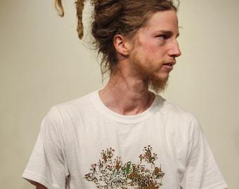 I Like Lichen, screen printed t-shirt