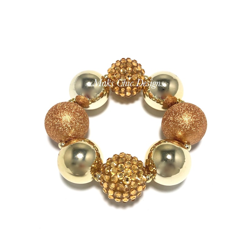 Metallic Gold Chunky Bracelet  Gold Chunky Bracelet  image 0
