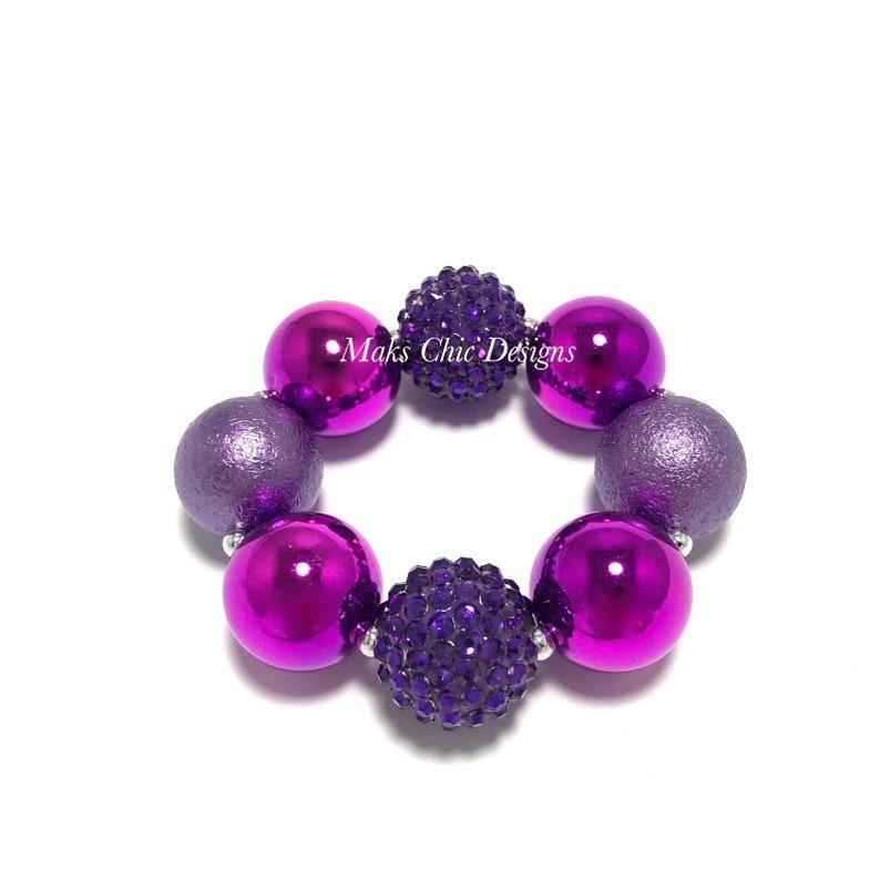 Metallic Purple Chunky Bracelet  Shades of Purple Chunky image 0