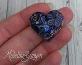 Purple Flower, Heart, Lam...