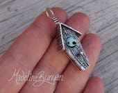 Silver Bird House Pendant...