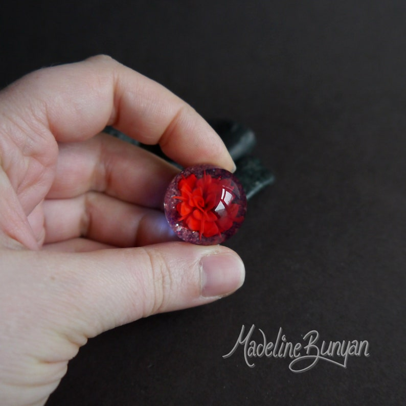 Everlasting Red Rose & heart Marble Gift for Her image 0