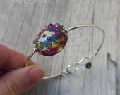 Nebula, Lampwork bead, st...