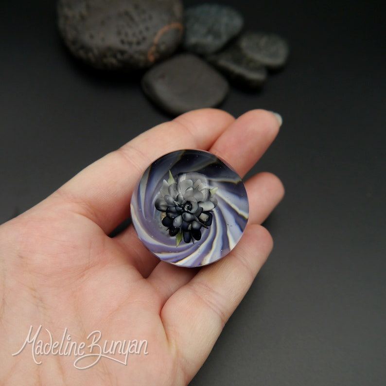 Large Everlasting Purple Rose Marble with a Vortex and image 0