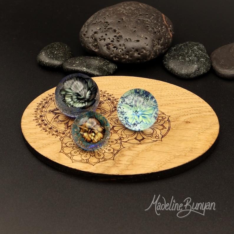 Everlasting Succulent Plant Marble Trio with Oak mandala image 0